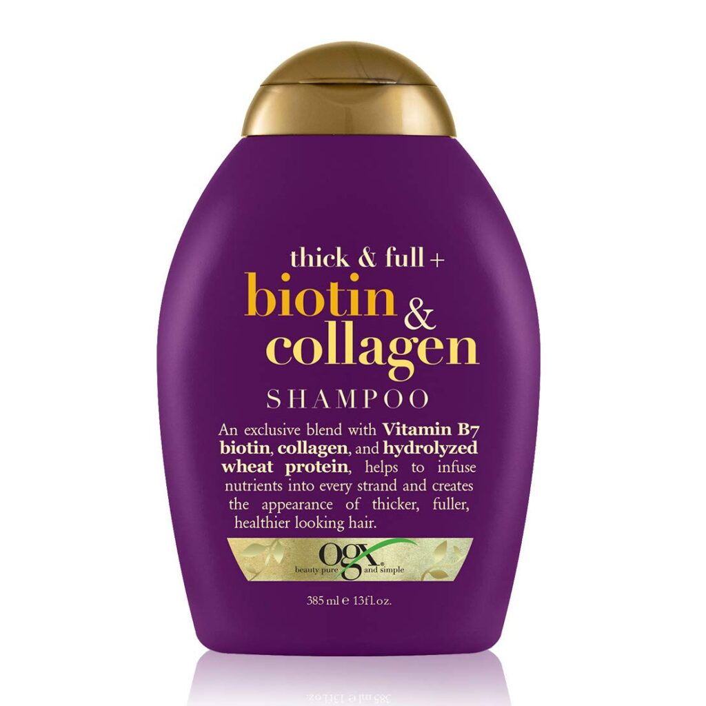 OGX Biotin and Collagen shampoo for extra volume in thin hair