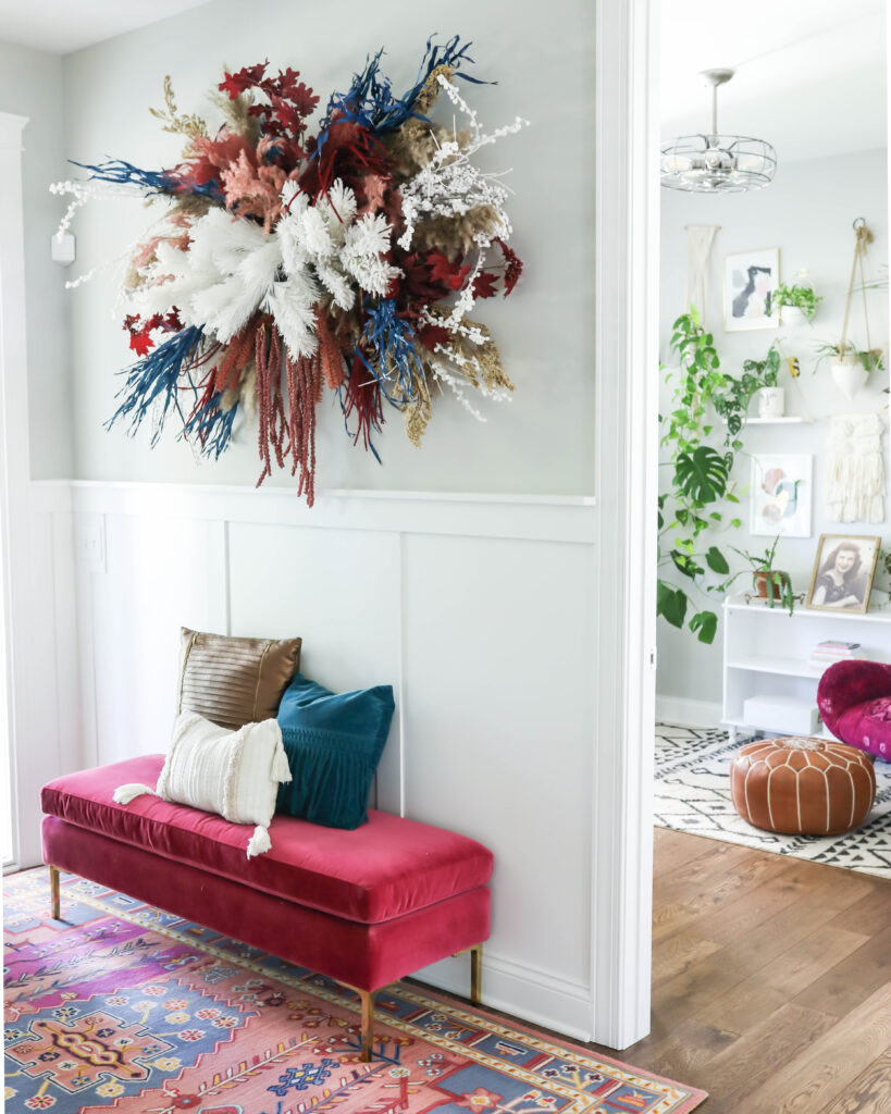 DIY floral wall hanging for fall